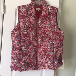 Gorgeous Talbots brand paisley puffer vest!